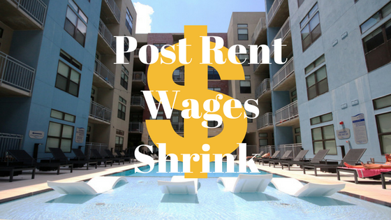 Post Rent Wages Shrink