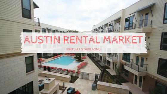 Austin Rental Market Hints at Stabilizing