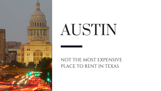 Austin Not the Most Expensive Place to Rent in Texas