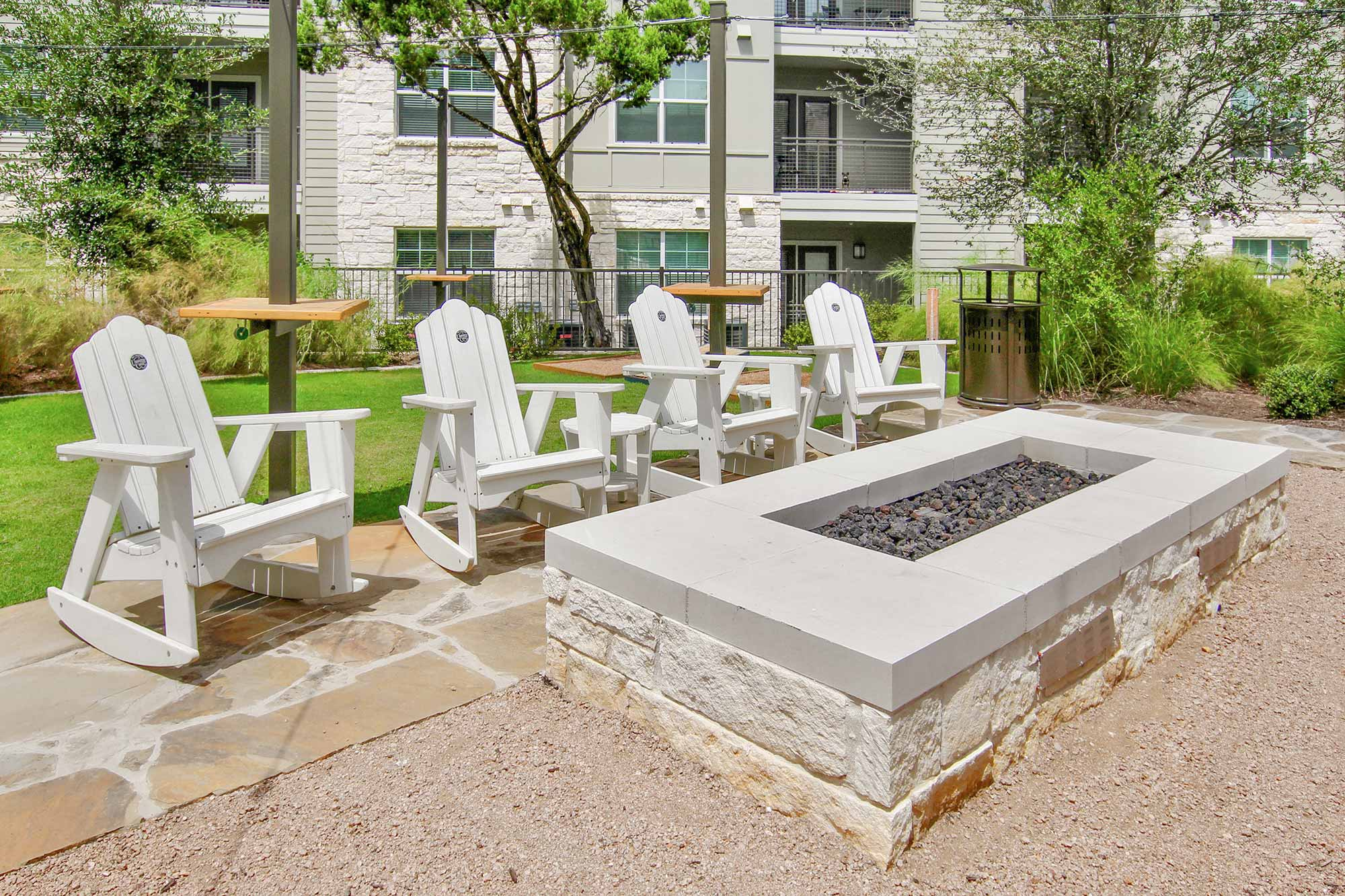 Apartment Outdoor Fireplace